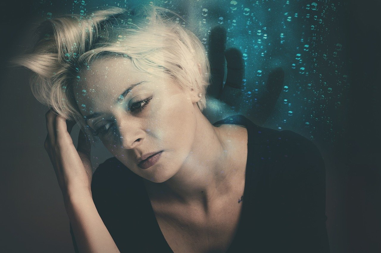 woman, worried, nightmare